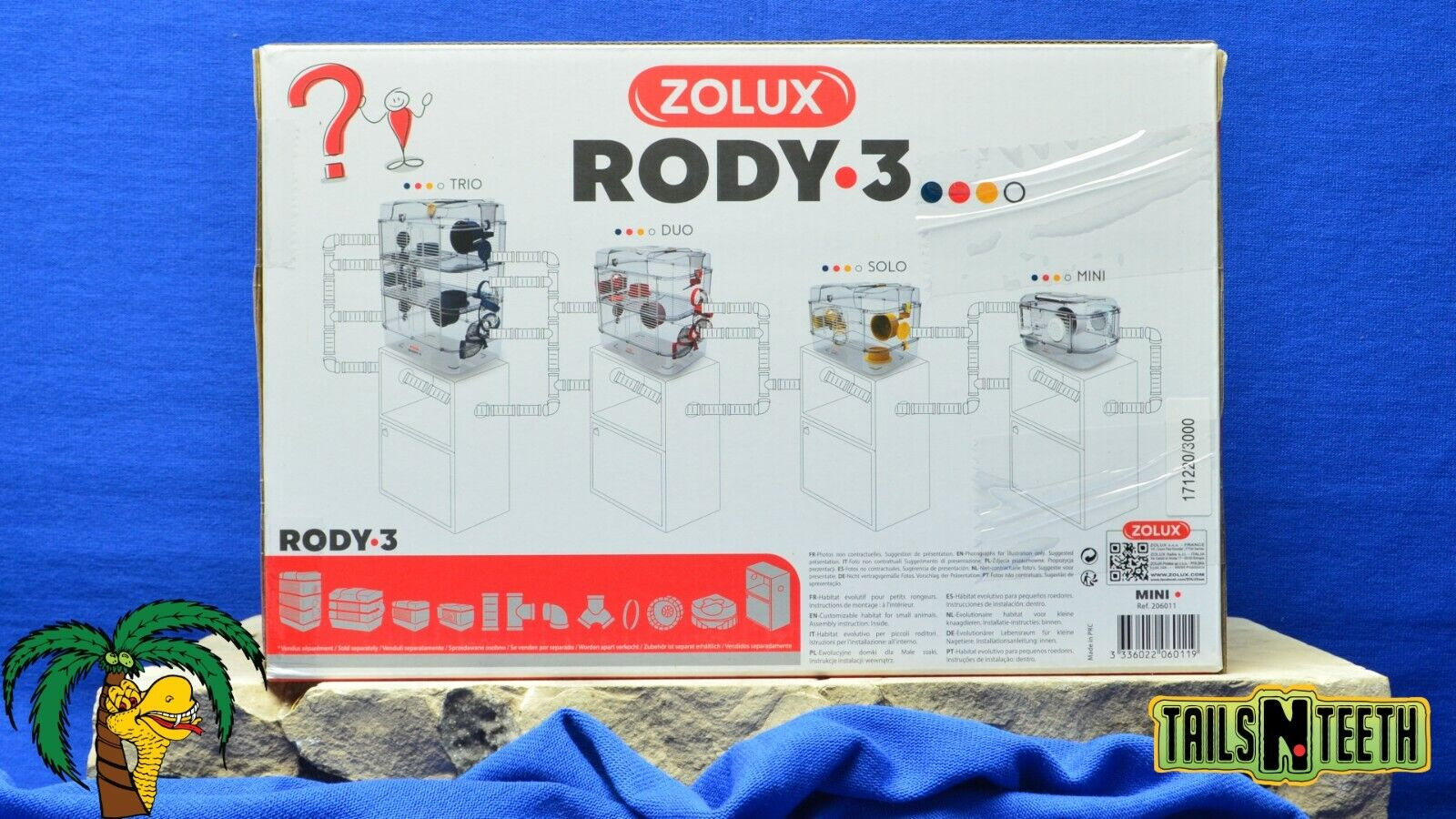 Zolux RODY-3 MINI Cage For Hamsters Gerbils Mice - Red - InterConnecting Cages - CA$29.99
