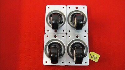 1 Set Of 4 Swivel Caster Hard Rubber Wheels
