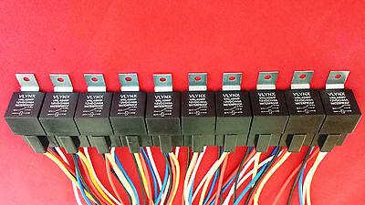 QTY5 RELAY +5 INTERLOCKING 5 PIN SOCKETS 12V DC 30 40A WATERPROOF SPDT
