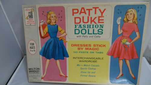 #4441 PATTY DUKE FAHION DOLLS  MILTON BRADLEY PATTY AND CATHY   CUT SET