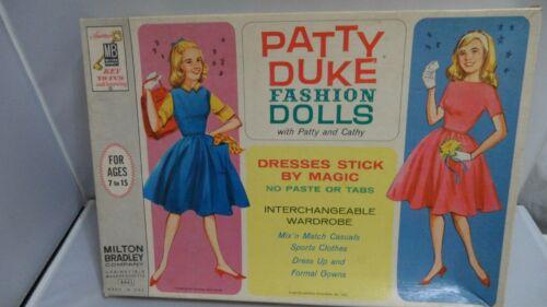 #4441 PATTY DUKE FAHION DOLLS  MILTON BRADLEY PATTY AND CATHY   CUT SET
