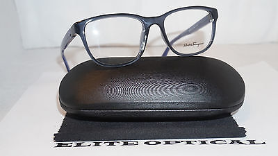 New Authentic Salvatore Ferragamo RX Eyeglasses Light Blue SF2729 414 54 17 140