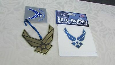 U.S. AIR FORCE METAL LOGO ORNAMENT Metal Officially Licensed and Auto Graph
