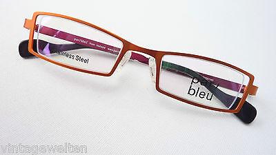 Orange Brille Damen Fassung mit schmaler Form Rahmen Nylorgestell Grösse M