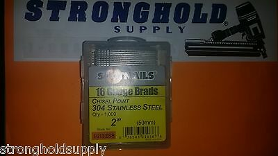 16g 2 Ss Finish Nails 16132ss Spotnail Stainless Steel 1000 Per Carton