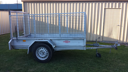 8 x 4 Box Trailer with Cage & Fold Down Tail gate