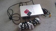 Playstation 2 - Silver, + 2x controllers, 2x memory cards, 2x gam Hornsby Hornsby Area Preview