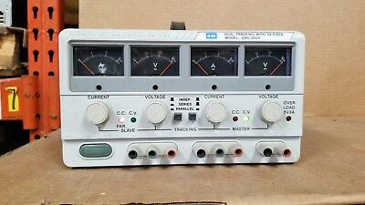 Gw Instek Gpc-3030 Dual Tracking Power Supply With 5v Fixed Good