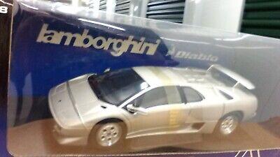 New 1:18 scale model by AutoArt Lamborghini Diablo Coupe in Silver.