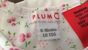 Plum cotton sleeping bag 6-18mths Launceston Launceston Area Preview
