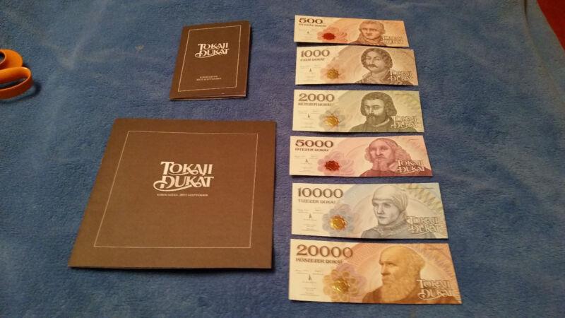 Hungary Tokaji Dukat SPECIMEN Local Issue muster RARE Lot bill just 100