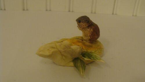 RARE Vintage Molla Vancouver Canada Miniature Art Pottery Hedgehog Figurine