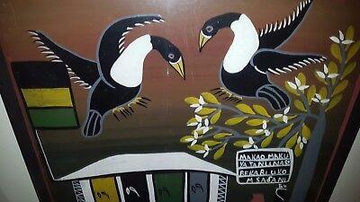 Tinga Tinga Malerei signiert Musa Afrika Bild 62*60 cm tingatinga