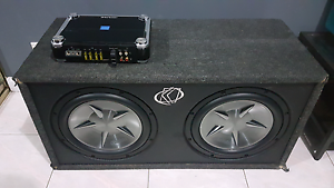 Alpine 1.600mono + clarion twin subs $450 Chester Hill Bankstown Area Preview