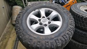 Prado 120 2007 alloy wheels and tires Eltham Nillumbik Area Preview