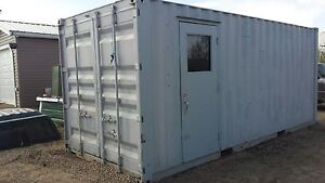 20' insulated sea can w man door