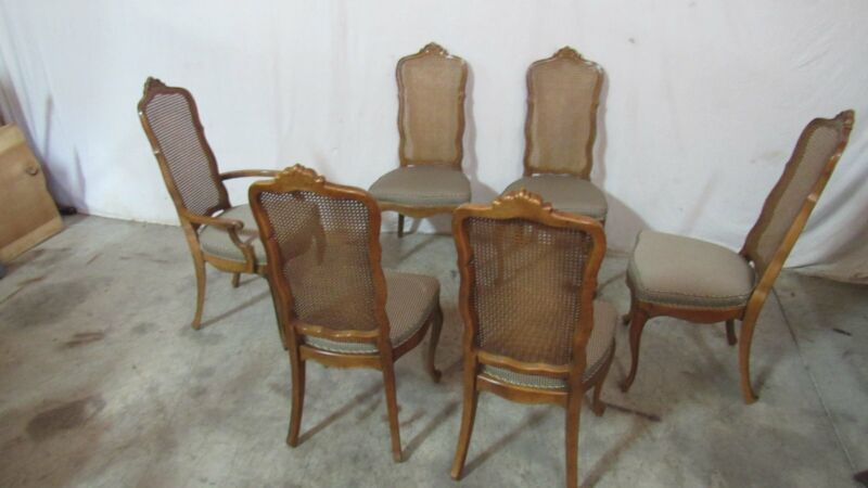 Set French Dining Room Chairs Designer Cane