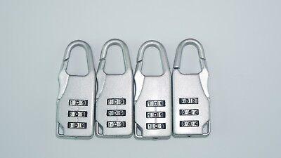 Mini New Safe 3 Number Code Padlock Combination Lock Set of - Mini Padlock Set