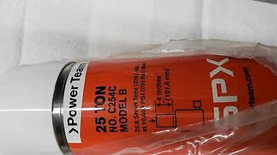 New Spx Power Team C254c 25 Ton 4 Stroke Steel Hydraulic Cylinder Usa Made