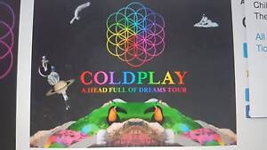 1 Coldplay concert ticket silver reserve seating Darwin CBD Darwin City Preview