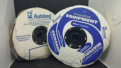 Autobag Clear 2 By 9 Plastic Bag Rolls One Full Roll One Partial