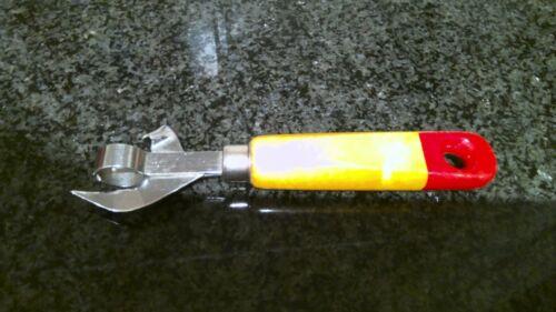 "Vintage Can Bottle Opener Wood Handle Tempered Tool Steel 6 1/2"" Long"