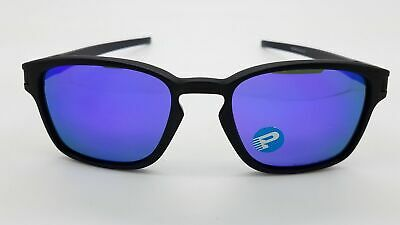 Oakley Latch SQ POLARIZED Sunglasses OO9353-04 Matte Black W/ Violet Iridium