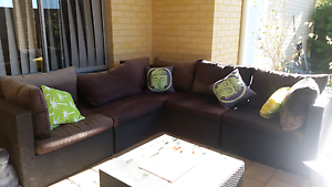 Outdoor black wicker lounge Baldivis Rockingham Area Preview