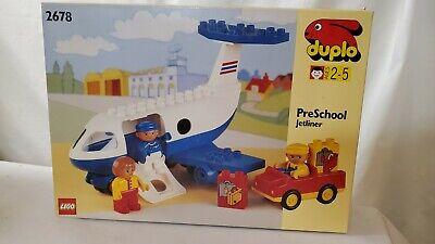 LEGO 2678 Preschool Jetliner duplo - 15 Pieces - Brand New Open Box Complete