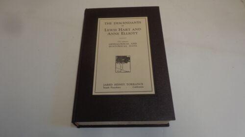 *Genealogy-Descendants of Lewis Hart & Anne Elliott