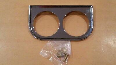 NEW Dual Chrome gauge panel /mount bracket  2 1/16