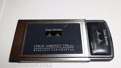 Cisco Aironet 350 Series Pcmcia Wireless Wifi Lan Network Adapter Air Pcm352