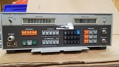 Marconi 2305 Modulation Meter Powers Up