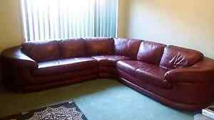 Leather Lounge 5/6 seater Paralowie Salisbury Area Preview