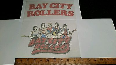 2 VINTAGE/RETRO BAY CITY ROLLERS IRON ON T-SHIRT TRANSFER PRINT OLD SHOP STOCK