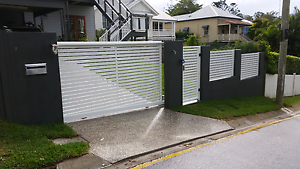 Electric driveway gates and aluminium fencing Boronia Heights Logan Area Preview