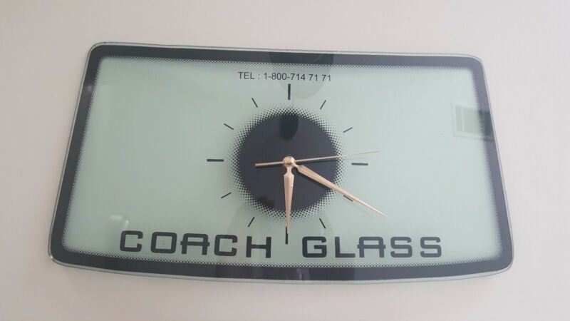 Coach Automobile Glass Advertising Clock