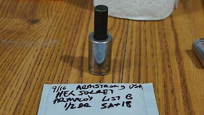 Armstrong Usa Armaloy 916 Hex Bit Socket 12 Drive List B