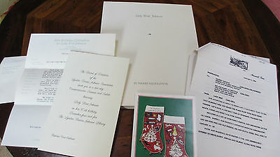Lady Bird Johnson Collection~Life Well Lived~80th Birthday~1994 FAX~Christmas