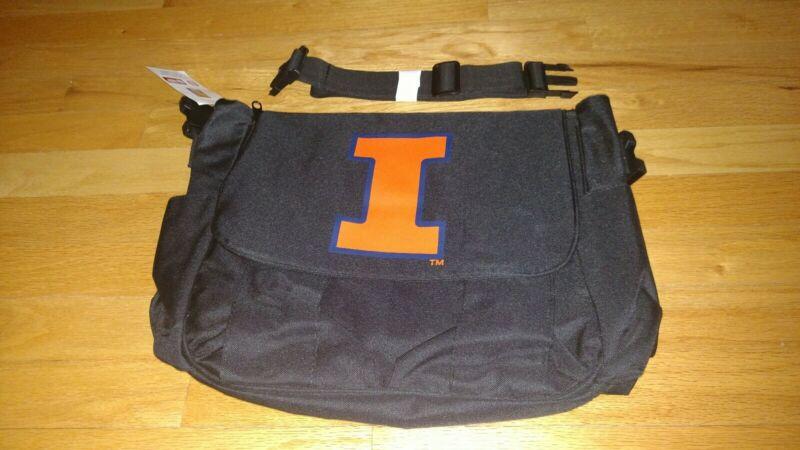 Illinois Fighting Illini NCAA Baby Newborn Infant Child Messenger Diaper Bag