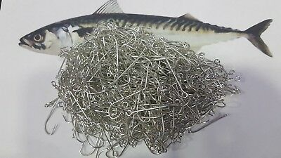 JOB LOT 500pcs Mackerel HOOKS SEA BOAT ROD charter long line COMMERCIAL FISHING