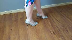 Size 8 silver heels - great condition Runaway Bay Gold Coast North Preview