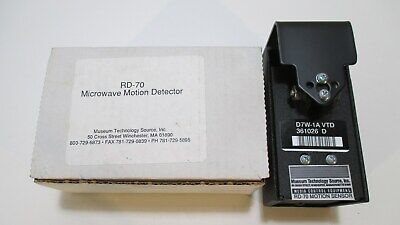 Museum Technology Source Inc. Rd-70 Microwave Motion Detector Sensor D7w-1a Vtd