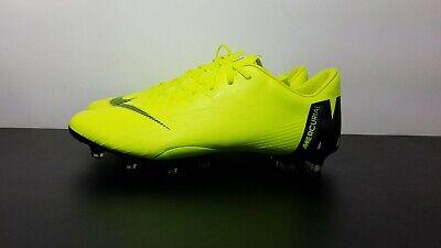 ae60610ac01 Nike Mercurial Vapor 12 Pro FG Volt Soccer Cleats Men US Size 9  Sample