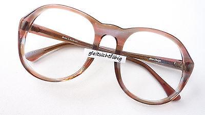 Herrenbrille 60er Marke Atrio braun Kunststoff große Gläser für Männer Gr. M