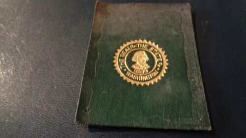 1912 L-23 State Seal Tobacco Leather - Washington