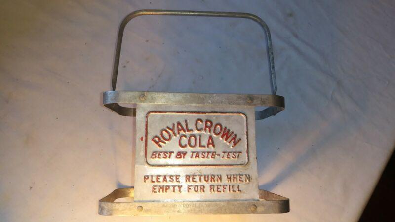 Rare Royal Crown Cola Aluminum Bottle Carrier