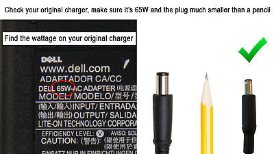 Genuine DELL Inspiron 15 5000 Series 5558 i5558 5559 65W AC Charger Cord Adapter