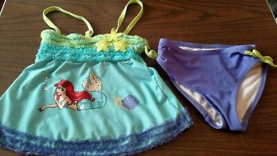 4T DISNEY 2 PIECE ARIEL SWIM SUIT FASHION TODDLER KIDS GIRLS OUTFITS CLOTHS