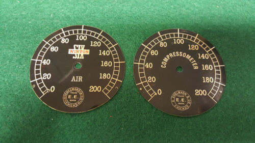 Early 1900s Air Gauge Instrument Face Edelmann Chicago Acid Etched Brass CHOICE